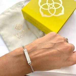 NWT Kendra Scott rhodium plated drusy bracelet